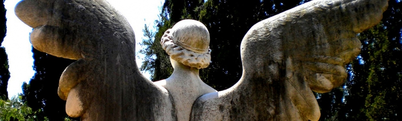 Angel at the cemetery of Montjuïc