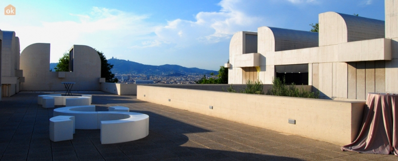 Terrace of the Miró Foundation