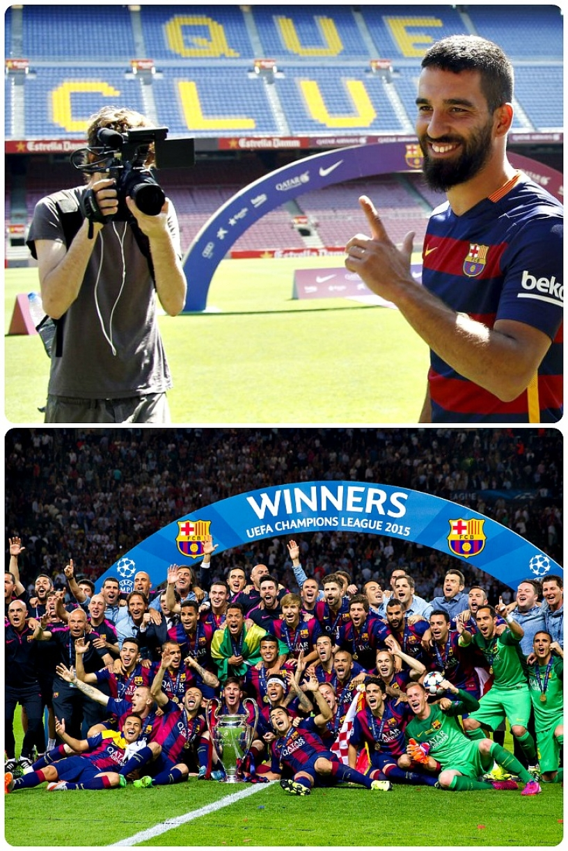 FC Barcelona Team 2015 UEFA win