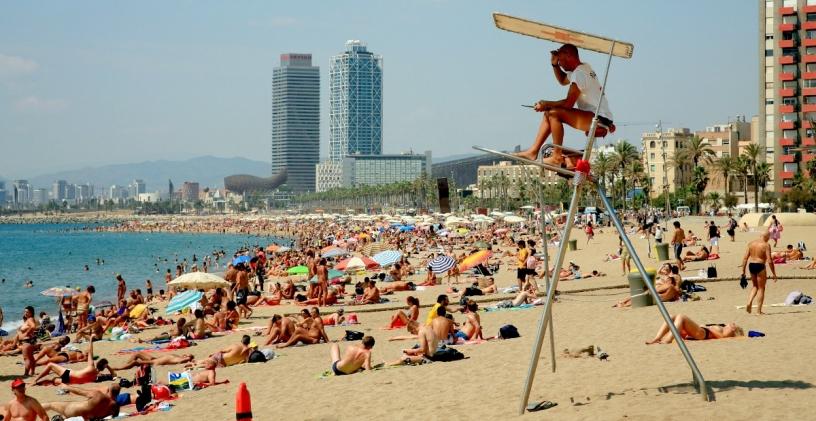 Spiaggia a Barcellona, Sant Sebastià