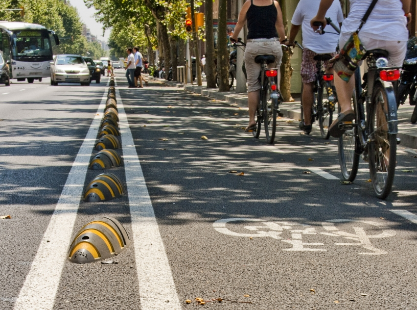 carril bici ciclistas barcelona