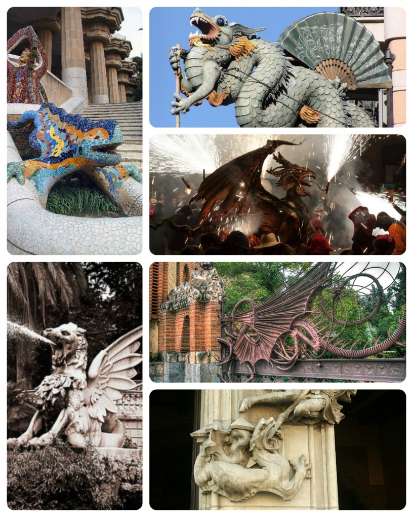 Many dragons in Barcelona