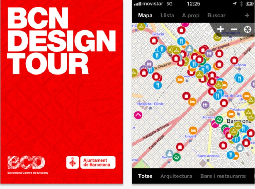 L'application Bcn DesignTour