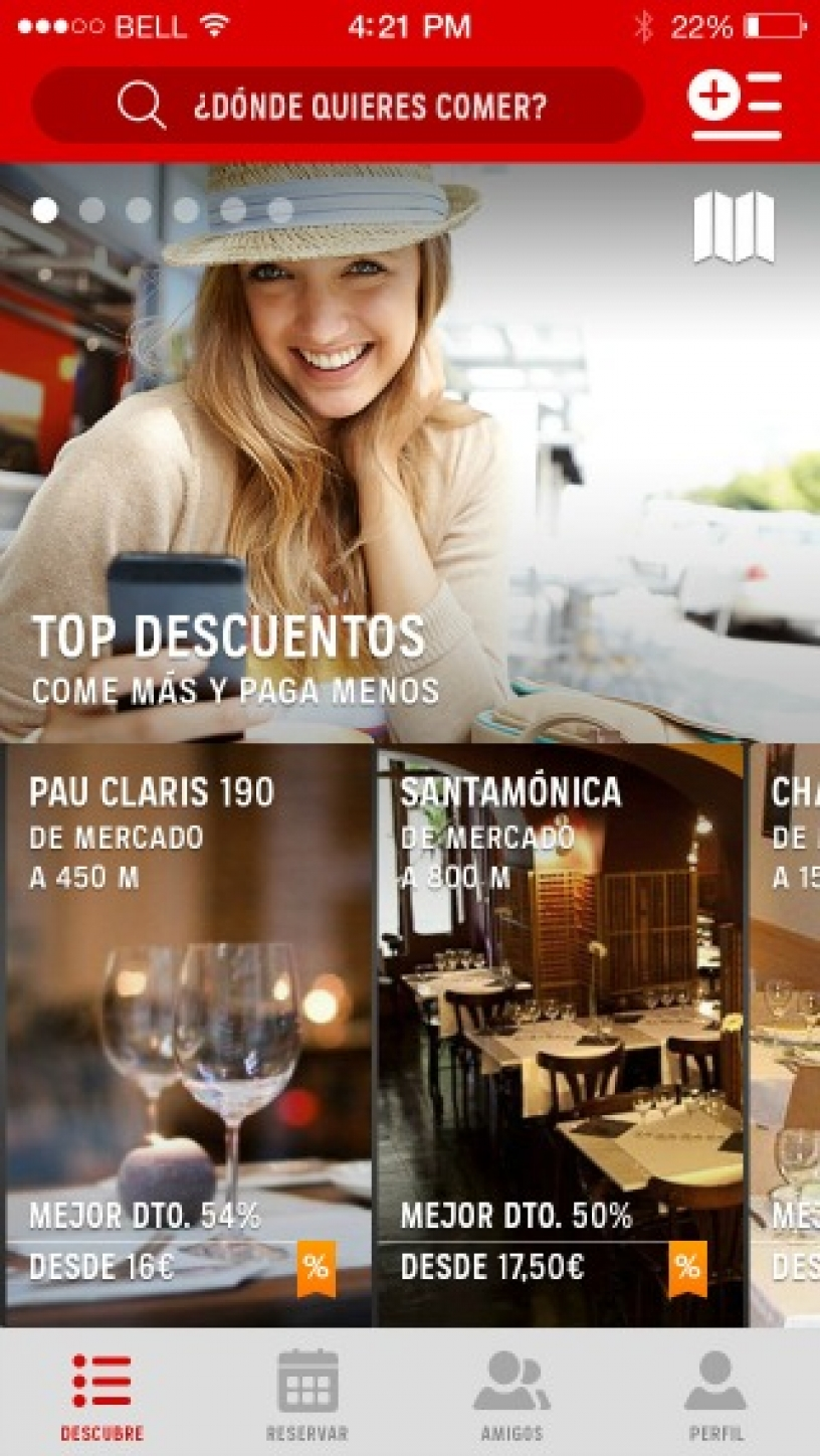 L'application Bcnrestaurants