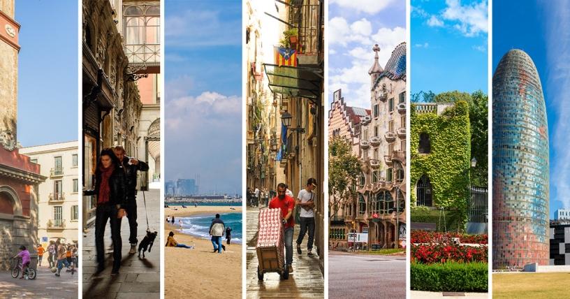 I quartiere di di Barcellona