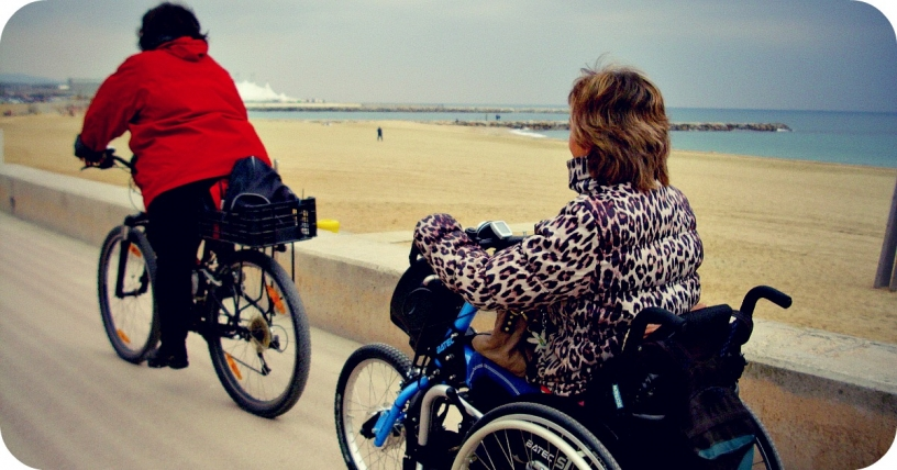 Bicicletta accessibile a Barcellona