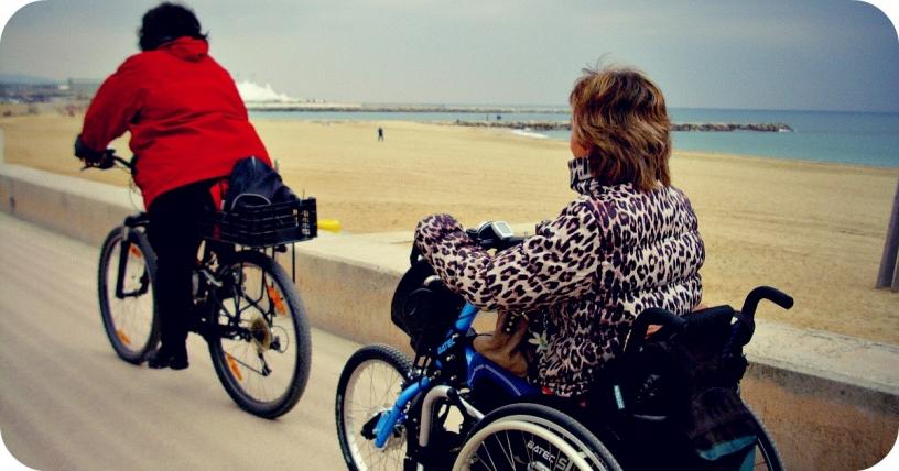 Адаптированный велосипед в Барселоне