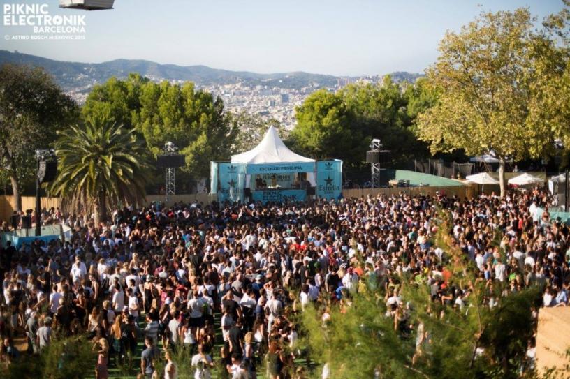 Menschen auf dem festival