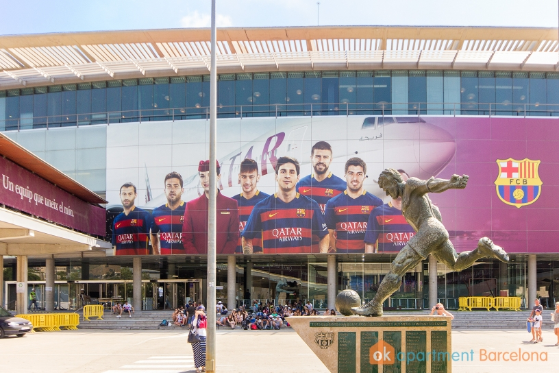 Il maestoso Camp Nou Barcellona