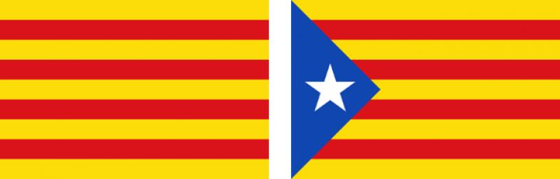 Las dos banderas de Cataluña