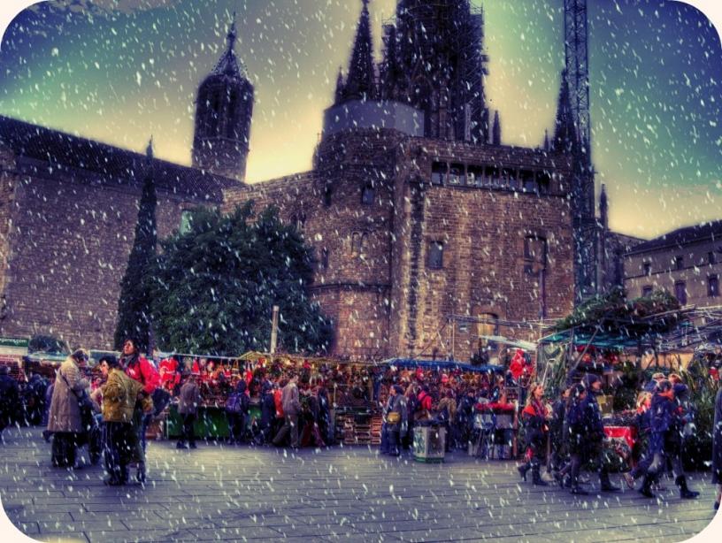 Кафедральный собор Барселоны в Рождество