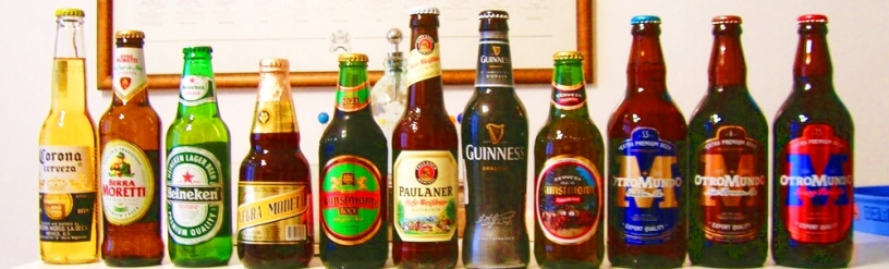 Cervezas en fila
