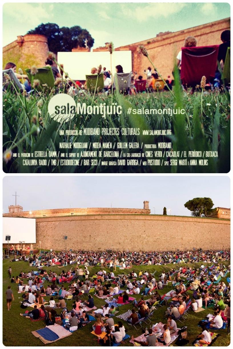 Cinéma à l'air libre Barcelone