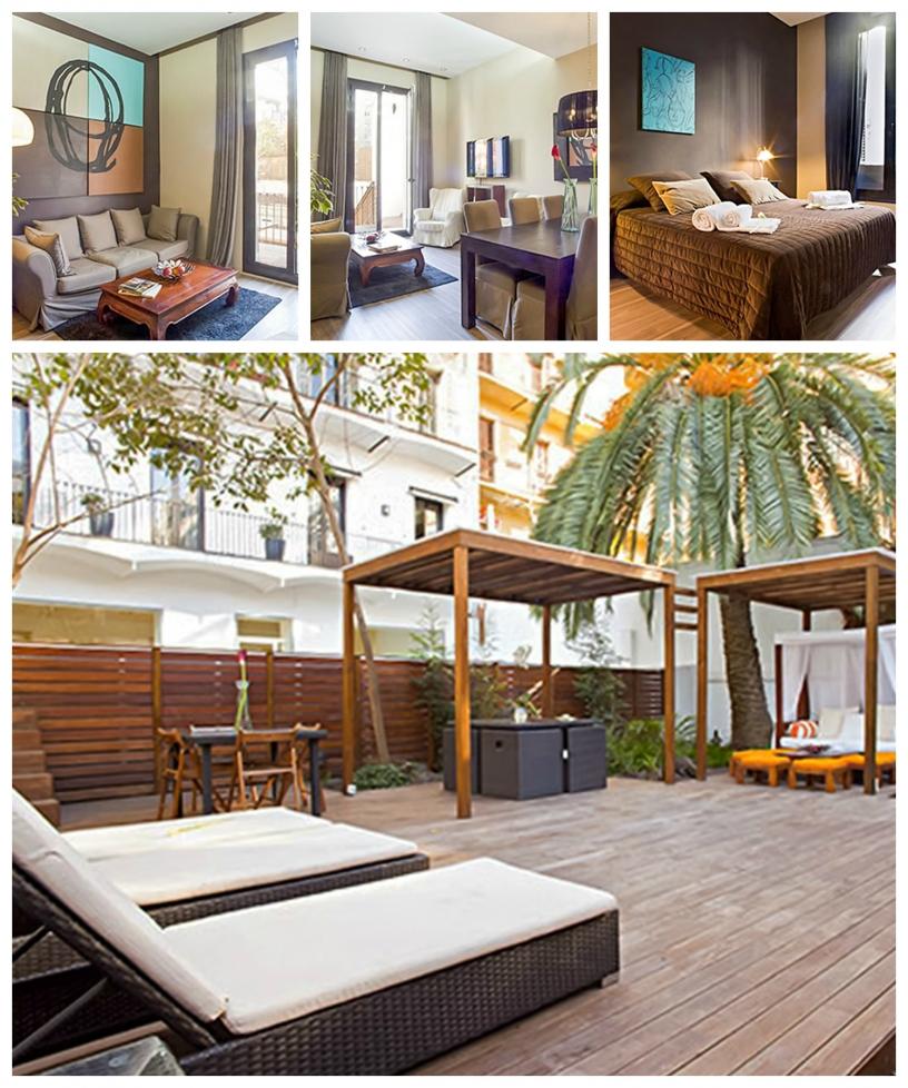 Appartamento per famiglie a Barcellona con ampia terrazza