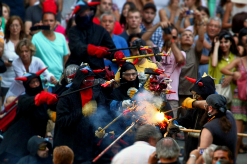 Diables at the Correfoc