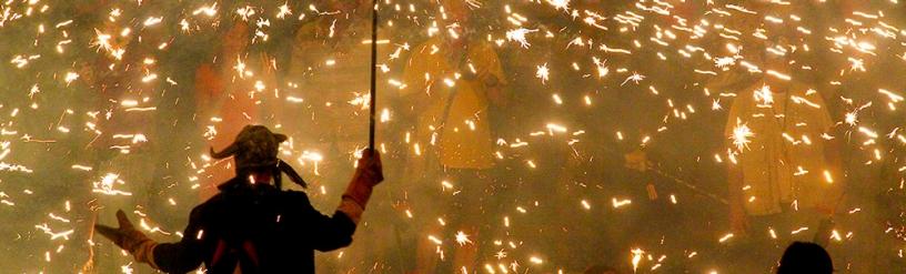 Correfoc en la Fiesta Mayor de Gràcia