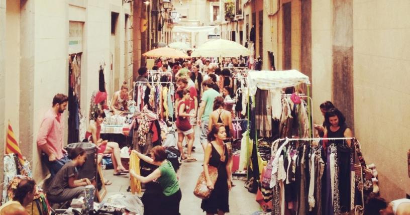 El Rastro de la Virgen, Mercado de arte en Barcelona