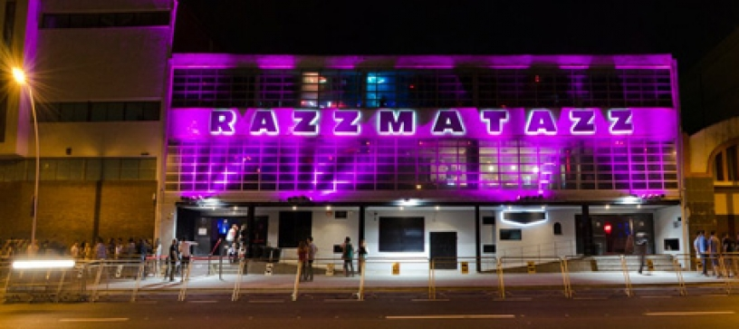 Razzmatazz's entrance in Barcelona