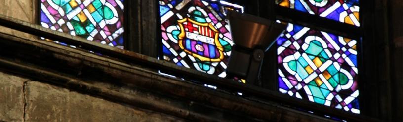 Escudo del Barça en Santa María del Mar