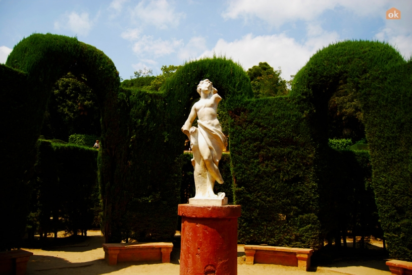Eros statue at the Parc Laberint d'Horta