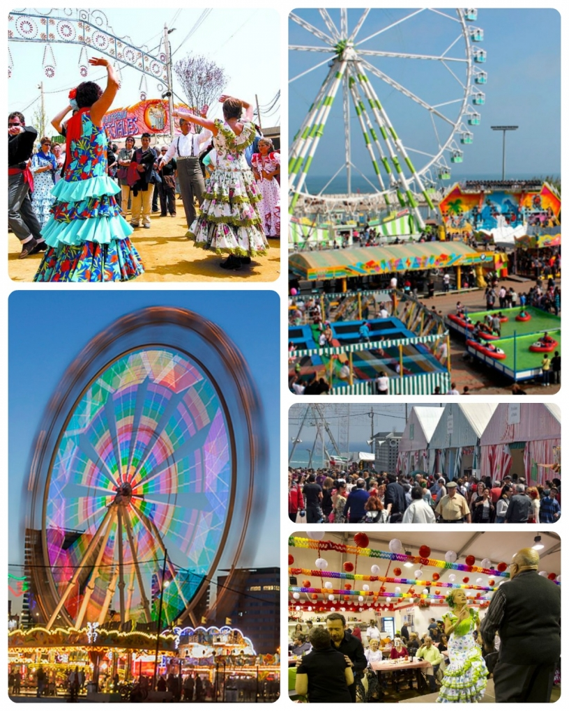 A montage of photos from the Feria de Abril