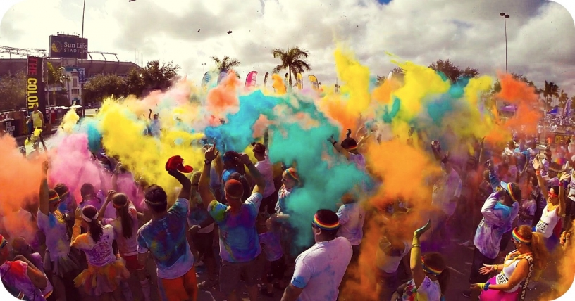 Color Run i Barcelona