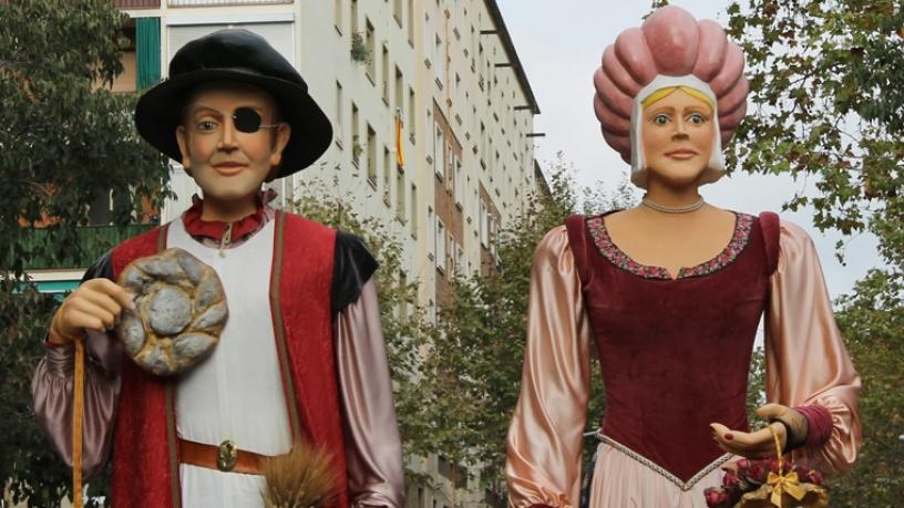 Le célèbre couple de géants Marti i la Dolça