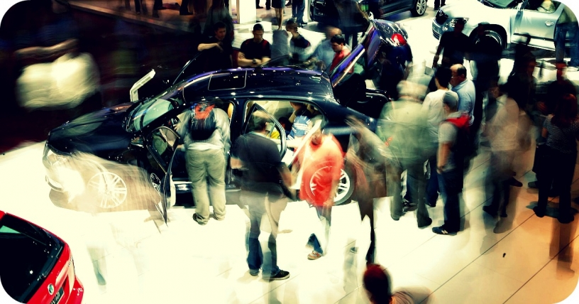 Automobile fair in Barcelona