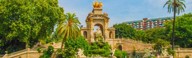 Fountain in Parc de la Ciutadella Barcelona