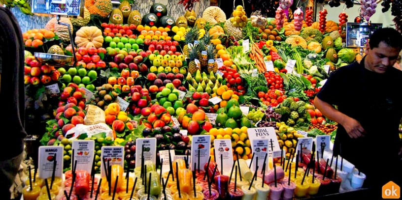 Fruits at Barcelona's Boqueria Market