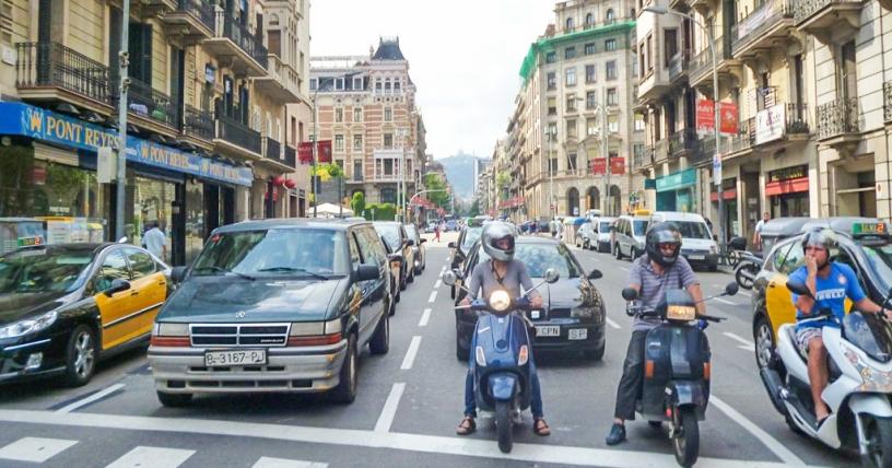Guidatori a Barcellona