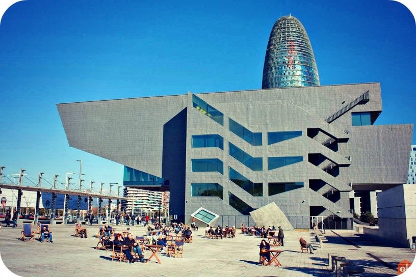 Torre Agbar and the Design Museum, Barcelona