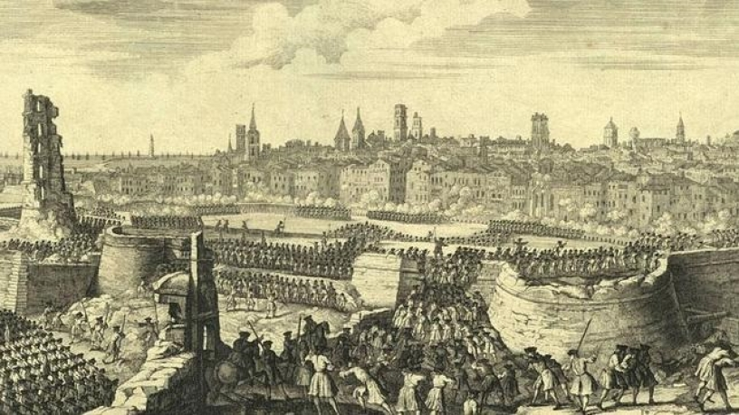 Borbones asediando Barcelona