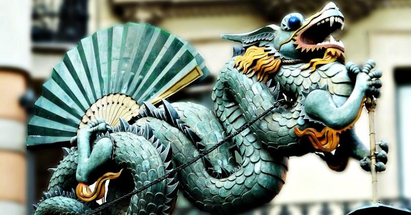 Китайский дракон Барселона
