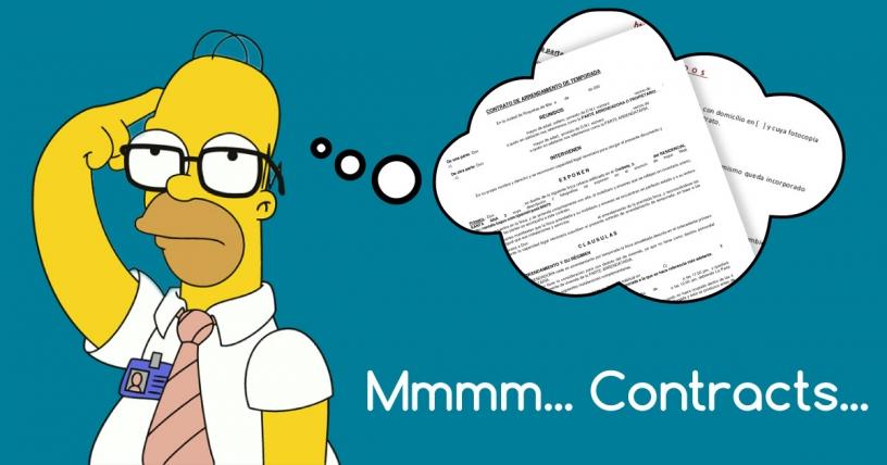 Homer piensa en cotnratos