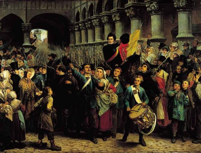La Belgique revendiquant son indépendance