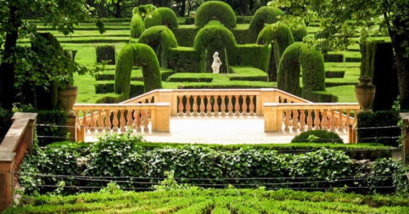 Parc Laberint d'Horta ein großer Garten
