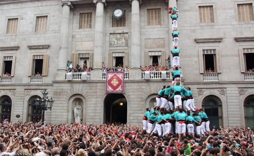 Castellers auf dem Platz von Jaume