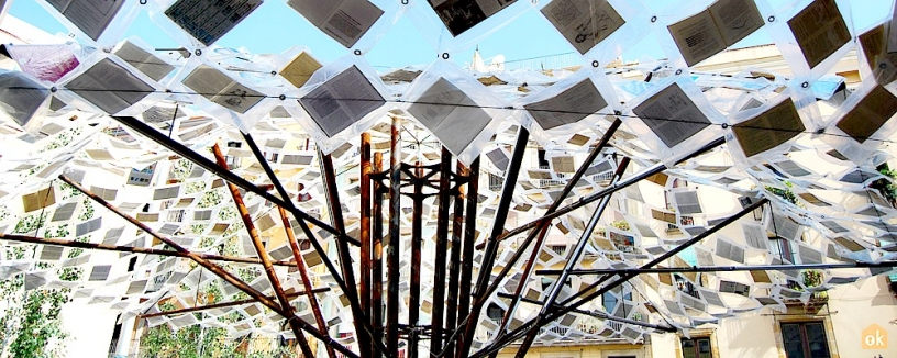 Tree of books in Barcelona