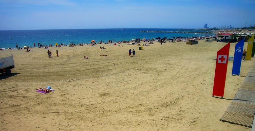 Barcelona Llevant Beach summer