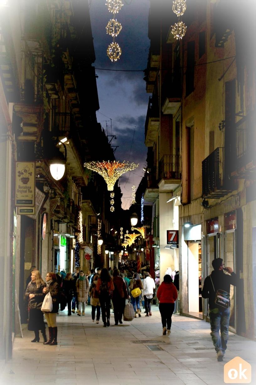 Christmas lights in Barcelona's Gothic Quarter