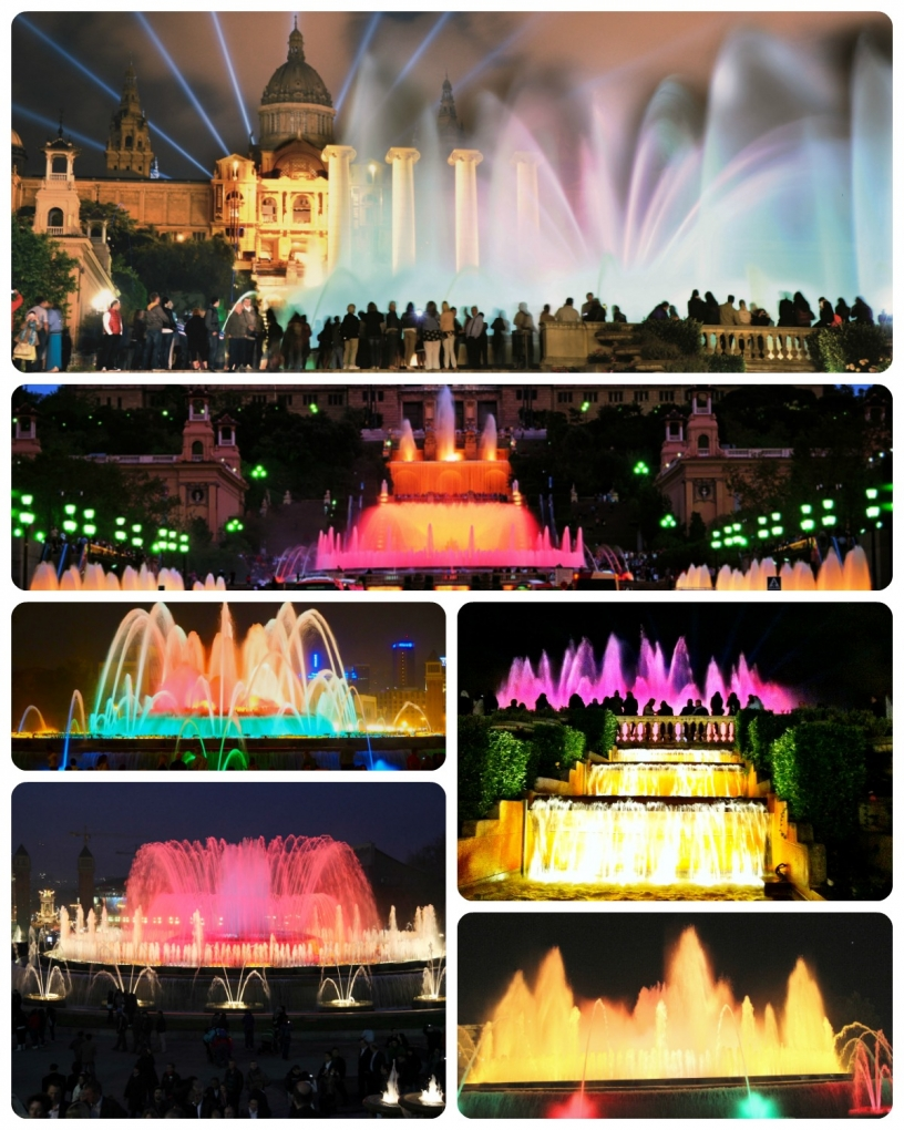 Magic Fountain show in Barcelona