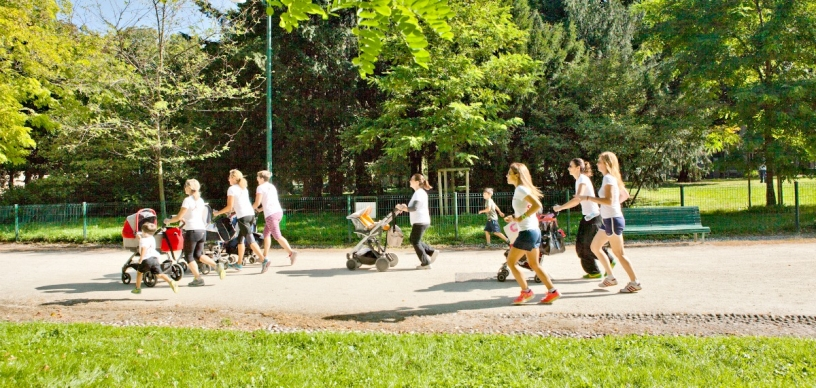 Jogging tra mamme Barcellona