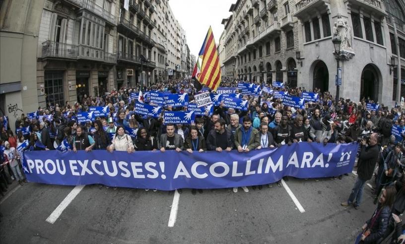 Manifestation pour les réfugiés