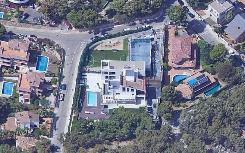Messi's house from the sky