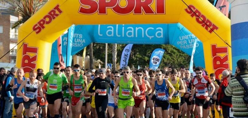 Corredores en la media maratón
