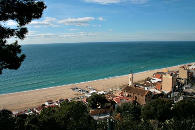 Schöne Aussicht auf den Strand