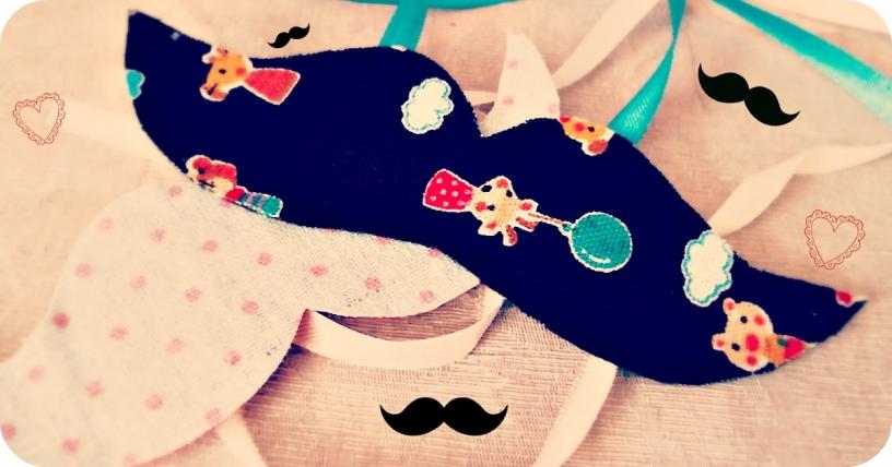 Handgjord mustasch