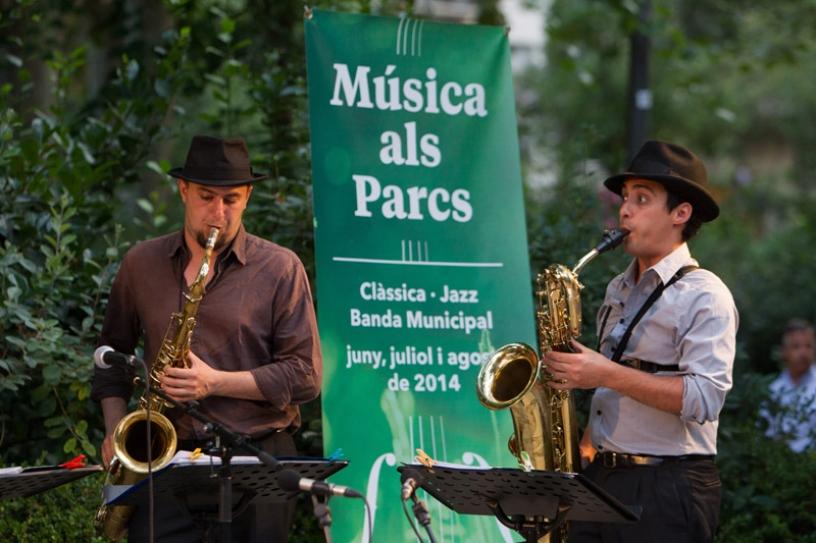 Música als parcs à Barcelone