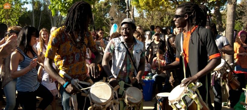 Musicians at Ciutadella park